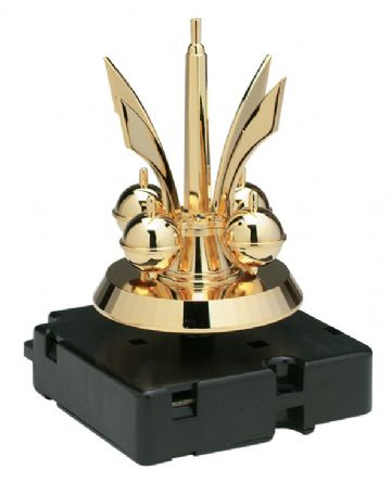 Anniversary clock rotating pendulum movement